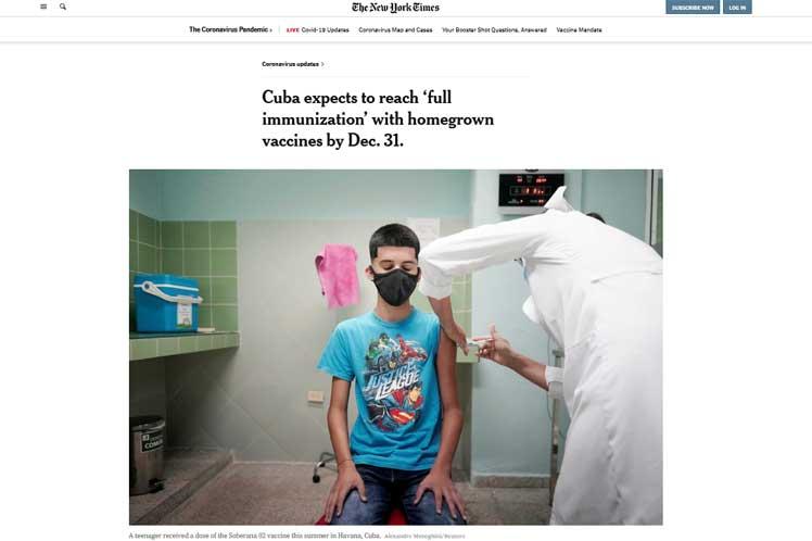 Diario de EEUU resalta labor de Cuba en enfrentamiento a pandemia