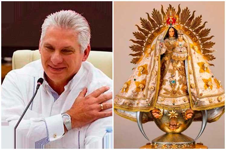 Díaz-Canel saluda a devotos de deidades veneradas en Cuba