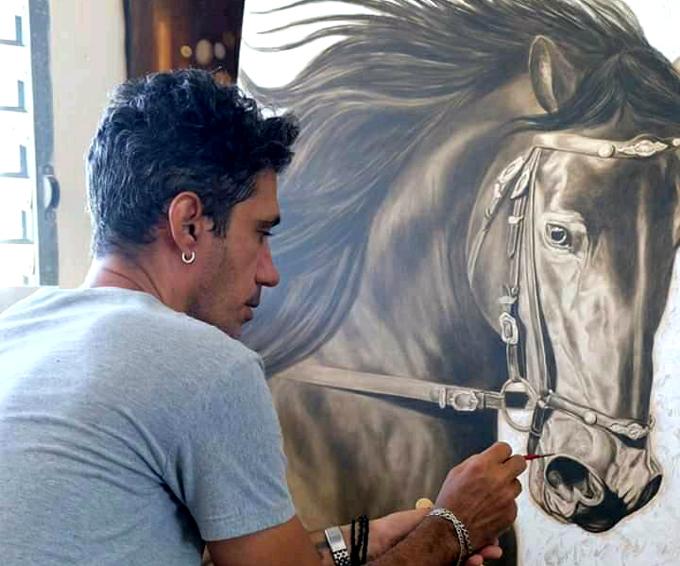 """Yoel Quezada: """"Básicamente soy un pintor"""""""