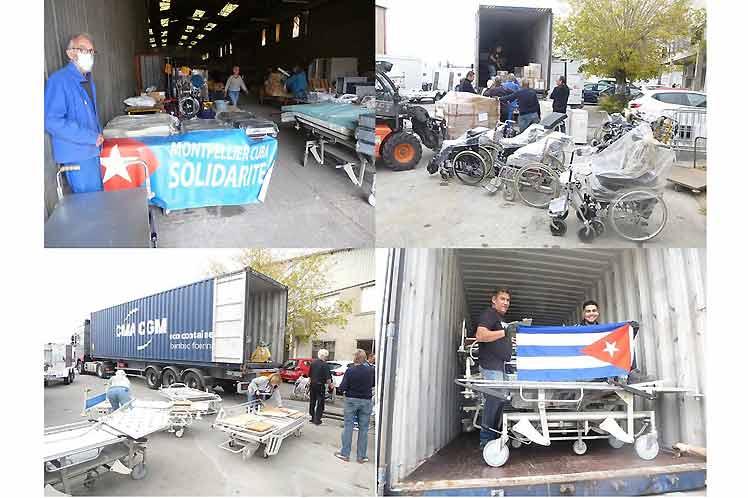 Envía Francia contenedor con ayuda médica para Cuba