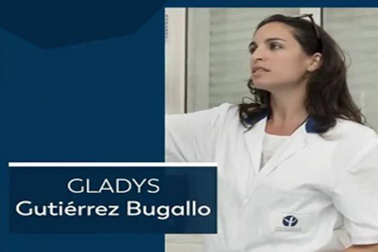 Felicita Díaz-Canel a investigadora cubana Gladys Gutiérrez-Bugallo